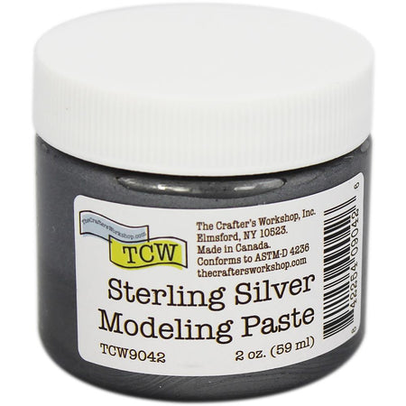 Crafter's Workshop Modeling Paste - Sterling Silver