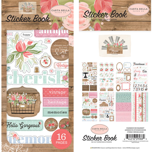 Carta Bella Farmhouse Market - Sticker Book