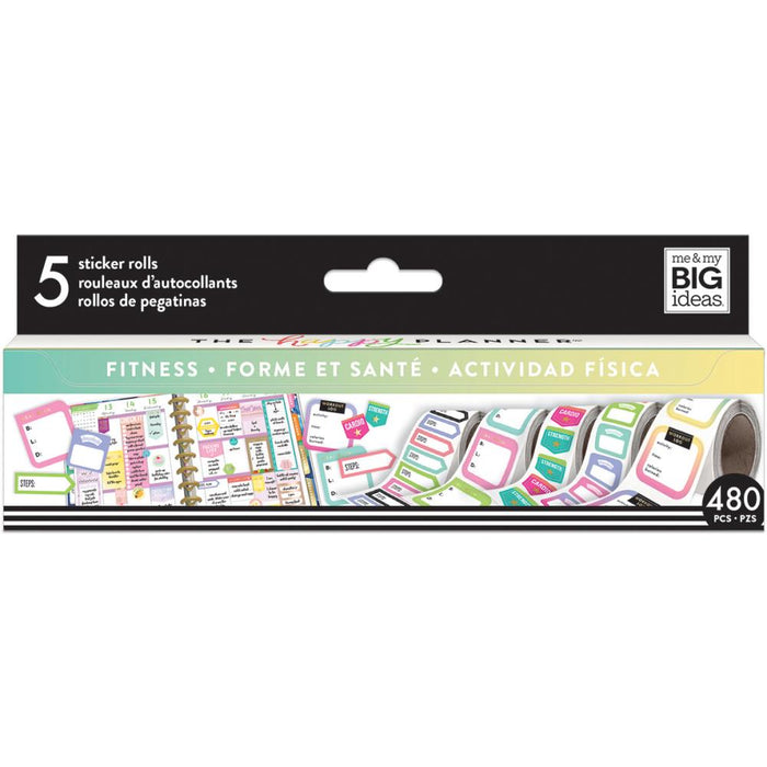 Me & My Big Ideas Happy Planner Sticker Rolls - Fitness