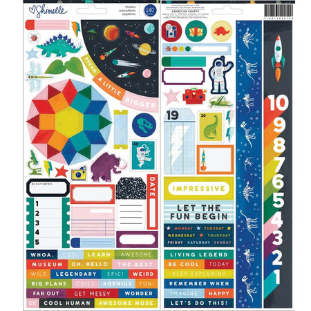 American Crafts Shimelle Field Trip - Accent & Phrase Stickers