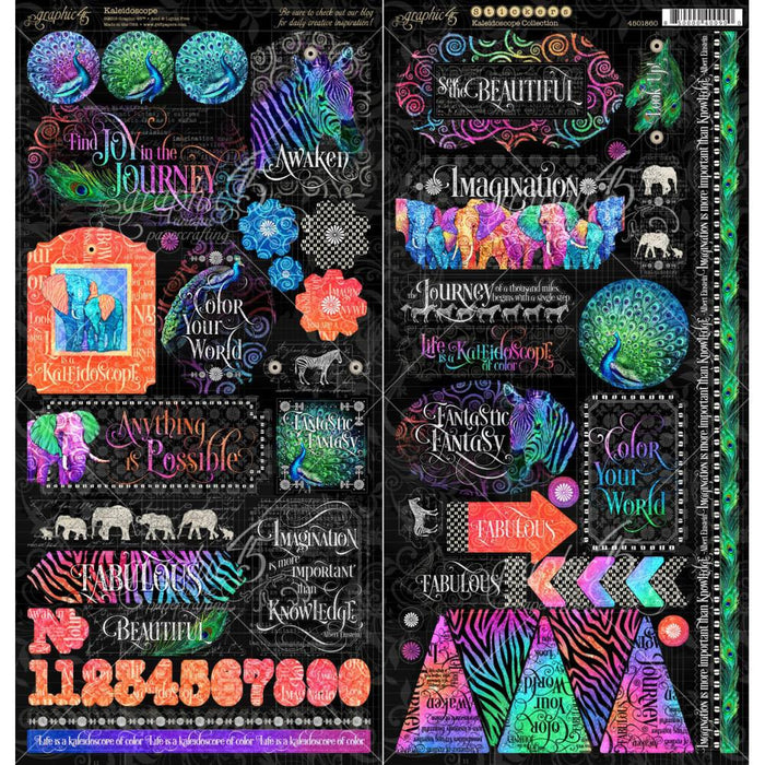 Graphic 45 Kaleidoscope - Stickers