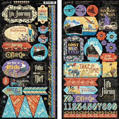 Graphic 45 Life's A Journey - Stickers