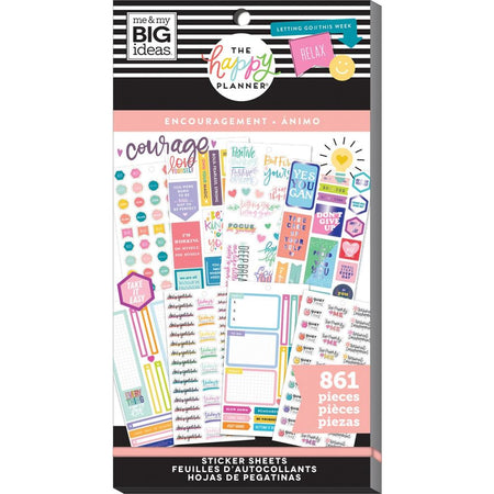 Me & My Big Ideas Happy Planner - Sticker Value Pack Encouragement