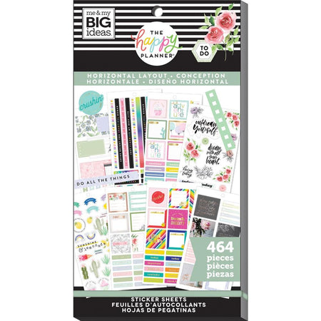 Me & My Big Ideas Happy Planner - Sticker Value Pack Horizontal Layout
