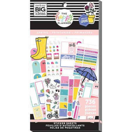 Me & My Big Ideas Happy Planner - Sticker Value Pack Spring