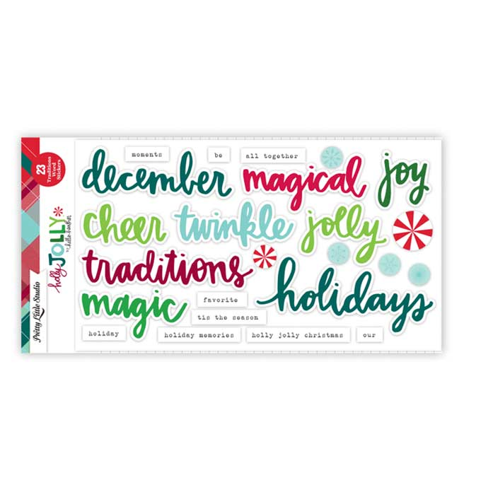 Pretty Little Studio Holly Jolly - Traditions Word Stickers