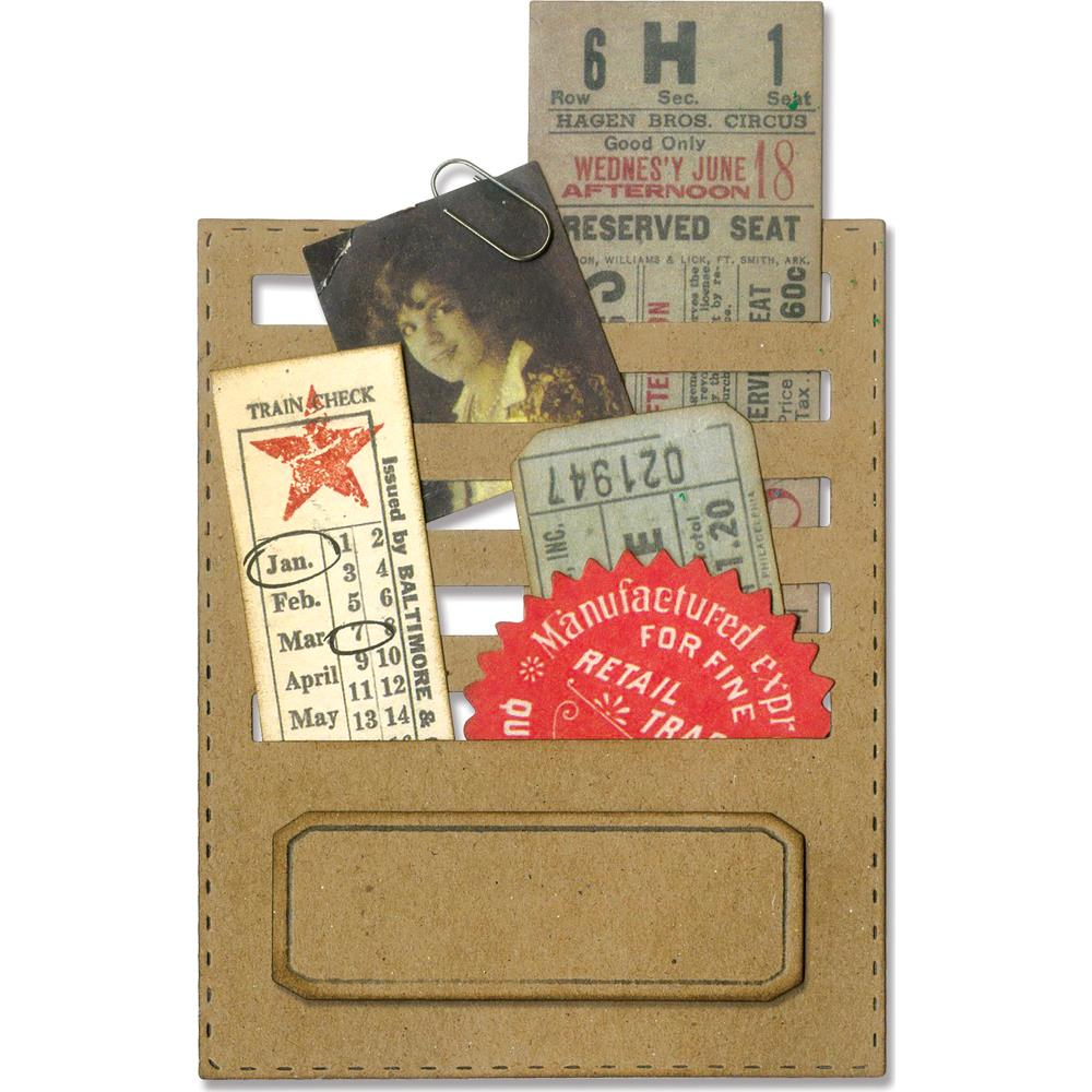 Sizzix Tim Holtz Alterations Thinlits Die - Stitched Slots