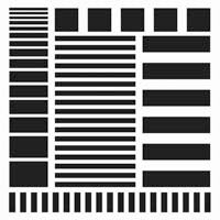 Crafter's Workshop 6x6 Template - Stripes