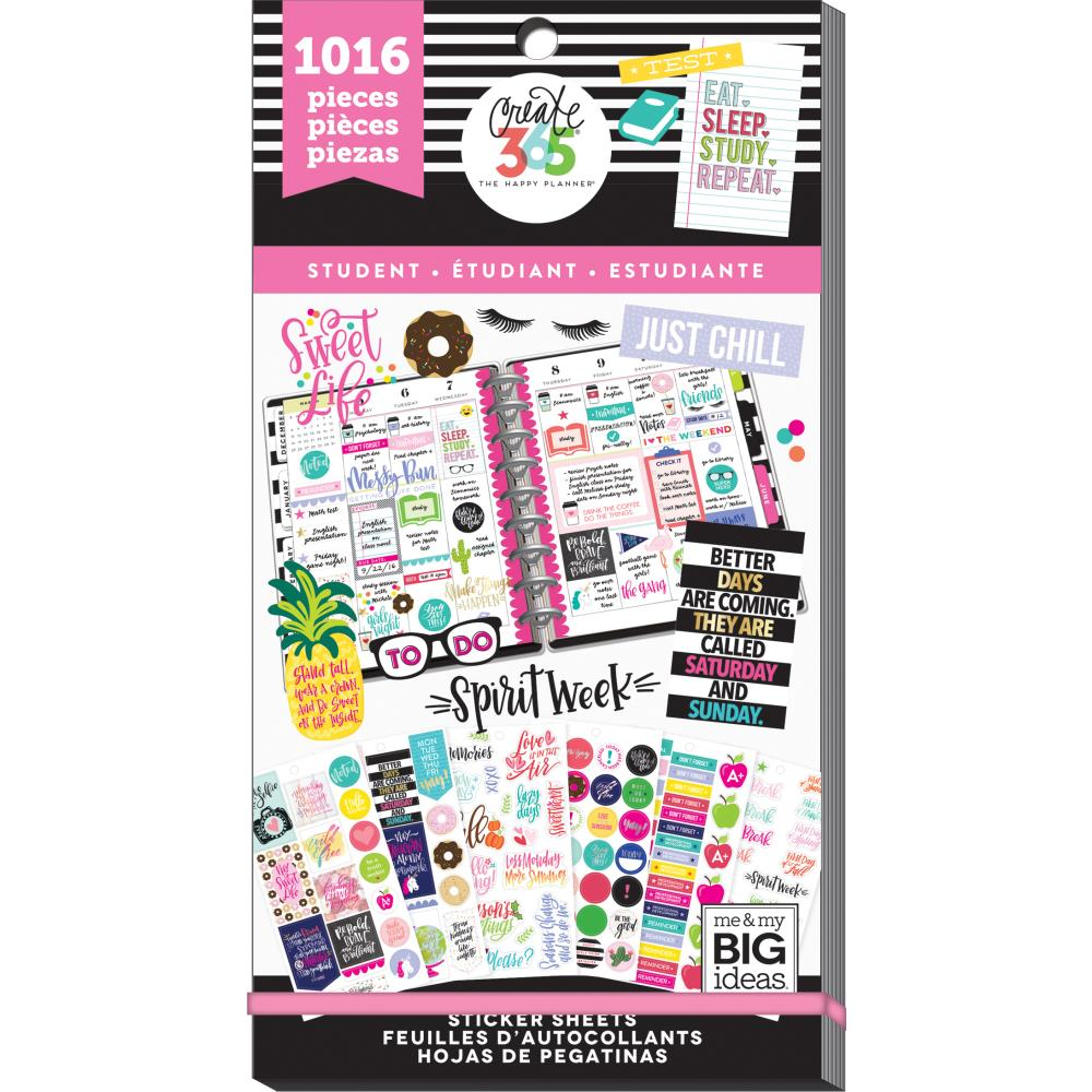 Me & My Big Ideas Happy Planner - Sticker Value Pack Student