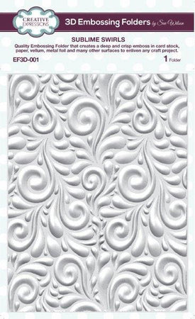 Creative Expressions 6x7.5 3D Embossing Folder - Sublime Swirls