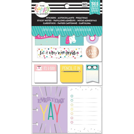 Me & My Big Ideas Happy Planner Note Cards/Stickers - Super Fun
