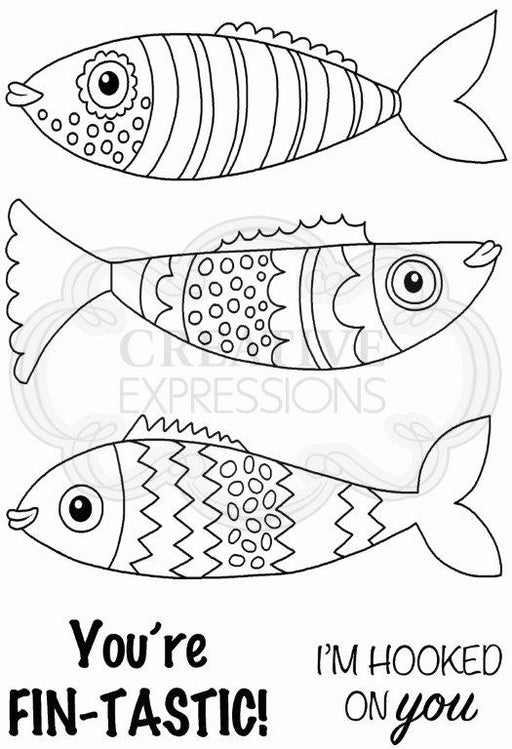 Woodware Clear Magic Stamp Set - Swimming Fish
