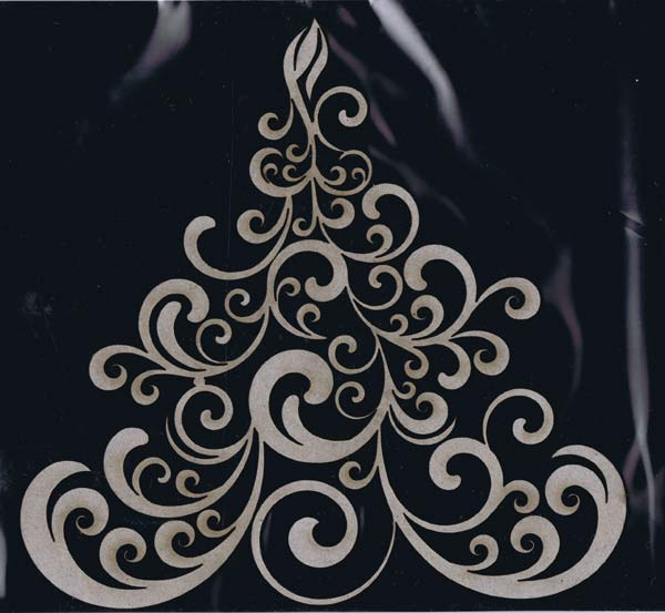 Dusty Attic - Swirly Christmas Tree
