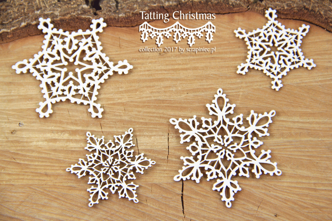 Scrapiniec Chipboard - 4850 Tatting Christmas Small Stars