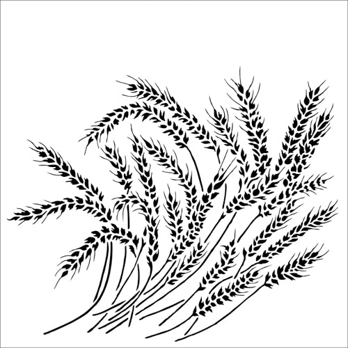 Crafter's Workshop 6x6 Template - Wheat Stalks