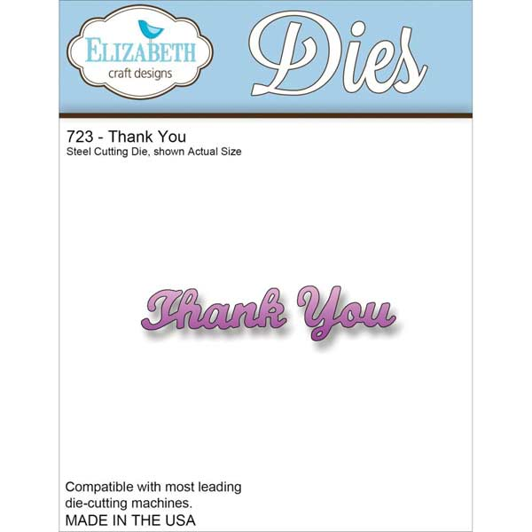 Elizabeth Craft Designs Die - Thank You