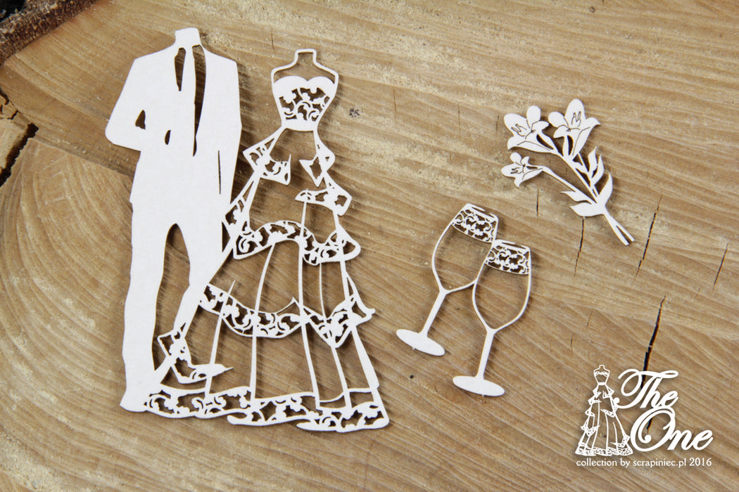 Scrapiniec Chipboard - 4268 The One Small Set
