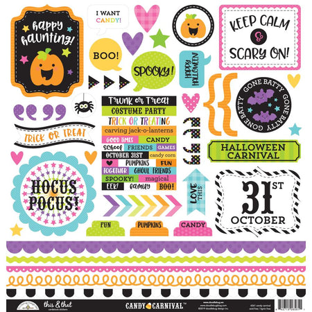 Doodlebug Design Candy Carnival - This & That Stickers