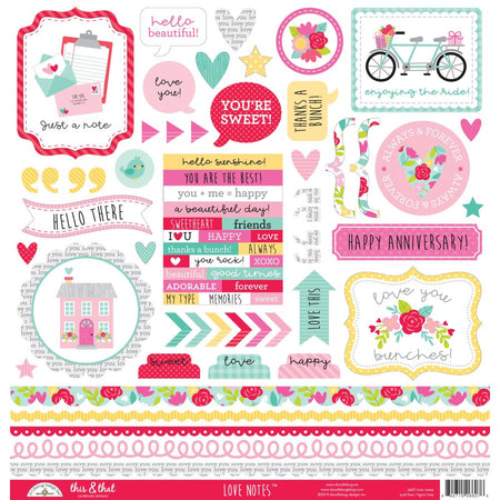 Doodlebug Design Love Notes - This & That Stickers
