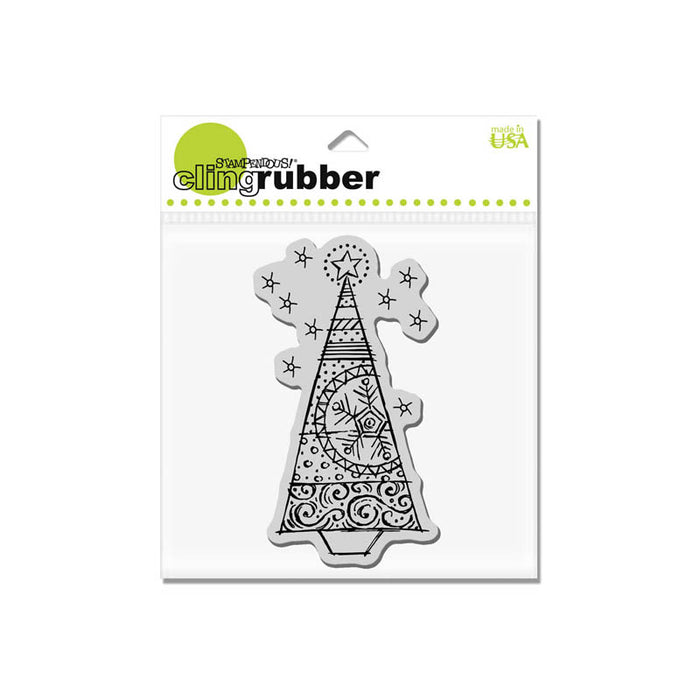 Stampendous Cling - Tinsel Tree