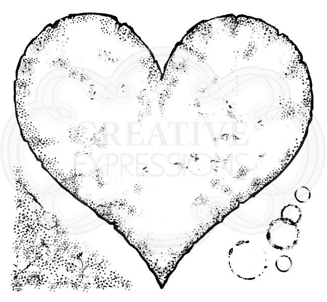 Woodware Clear Magic Singles Stamps - Torn Paper Heart