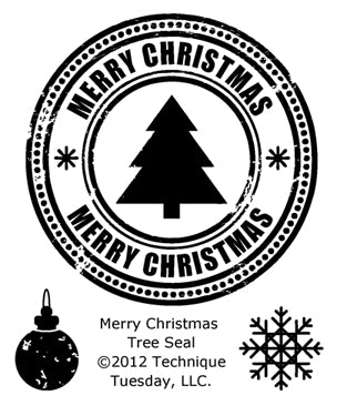 Technique Tuesday - Merry Christmas Tree Seal