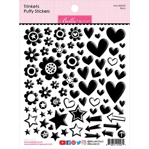 Bella Blvd Trinkets Puffy Stickers - Black