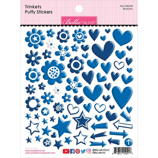 Bella Blvd Trinkets Puffy Stickers - Blueberry