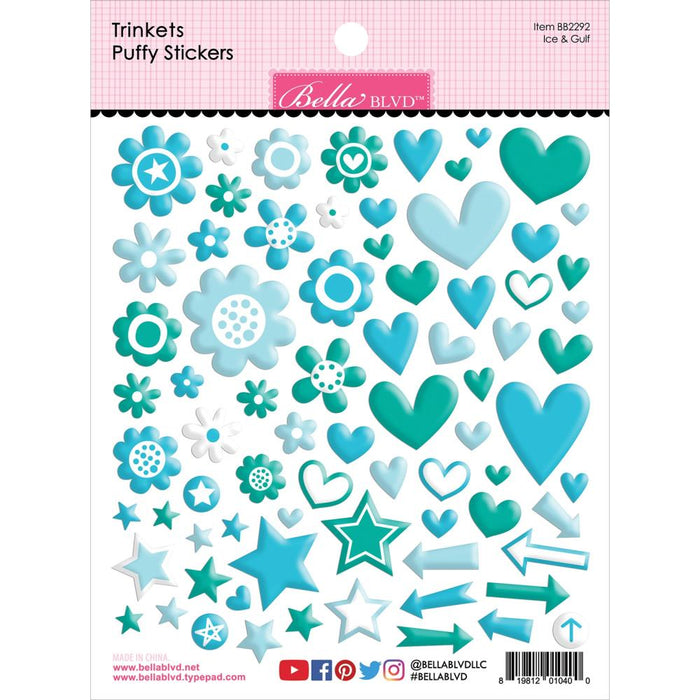 Bella Blvd Trinkets Puffy Stickers - Ice & Gulf