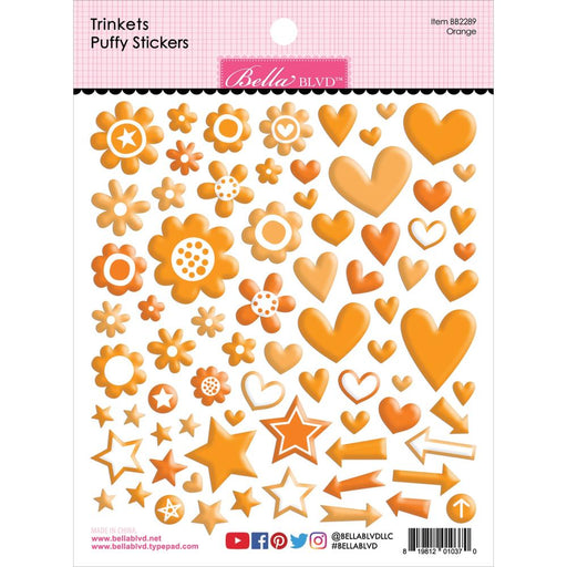 Bella Blvd Trinkets Puffy Stickers - Orange