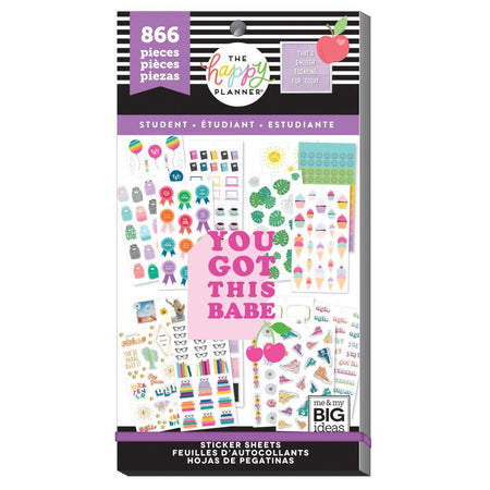 Me & My Big Ideas Happy Planner - Sticker Value Pack Student Icons