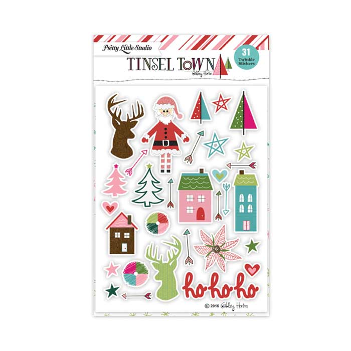 Pretty Little Studio Tinsel Town - Twinkle Clear Stickers