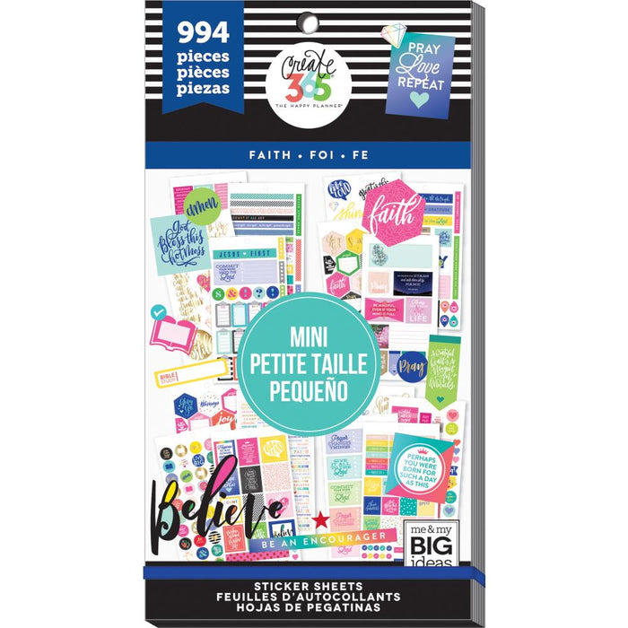 Me & My Big Ideas Happy Planner - Sticker Value Pack Mini Faith