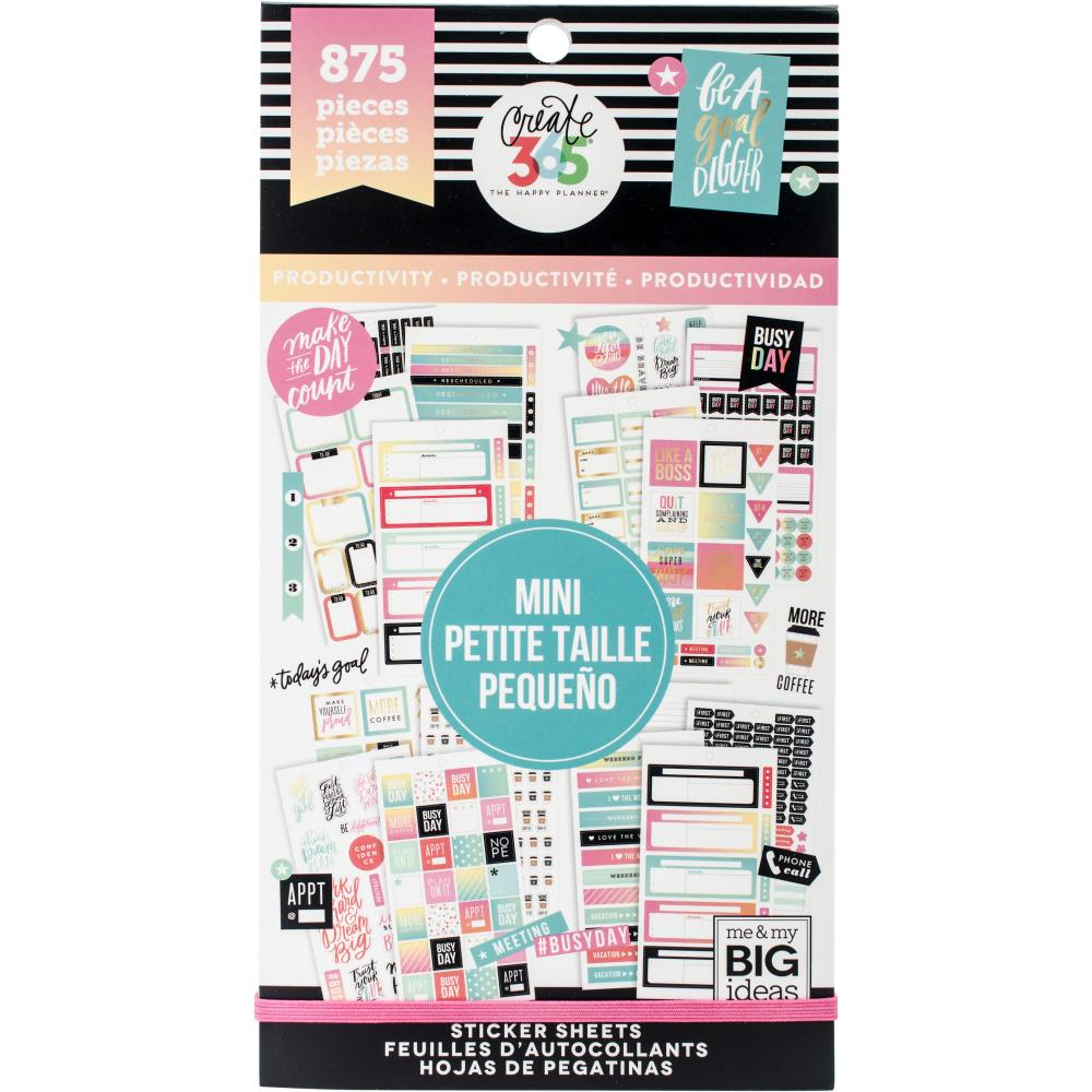 Me & My Big Ideas Happy Planner - Sticker Value Pack Mini Productivity