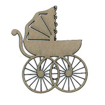 Scrap FX Chipboard - Victorian Baby Carriage