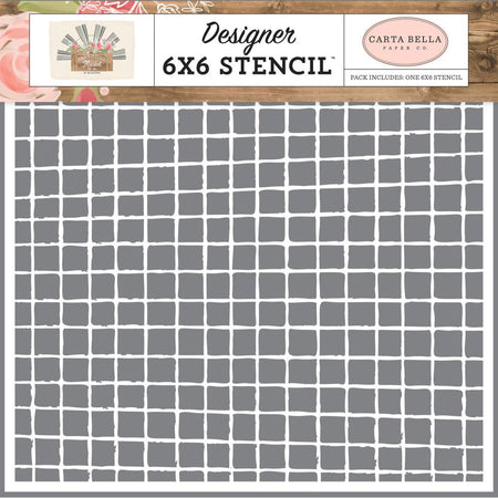 Carta Bella Farmhouse Market - Vintage Grid Stencil