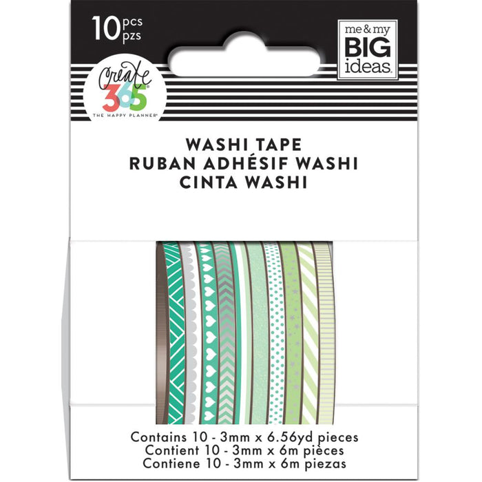 Me & My Big Ideas Happy Planner - Mini Washi Tape Green Hues