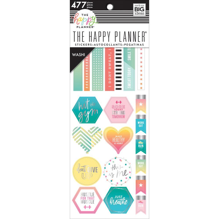 Me & My Big Ideas Happy Planner - Washi Sticker Book Fitness