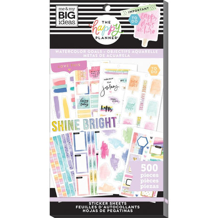 Me & My Big Ideas Happy Planner - Sticker Value Pack Watercolor Goals