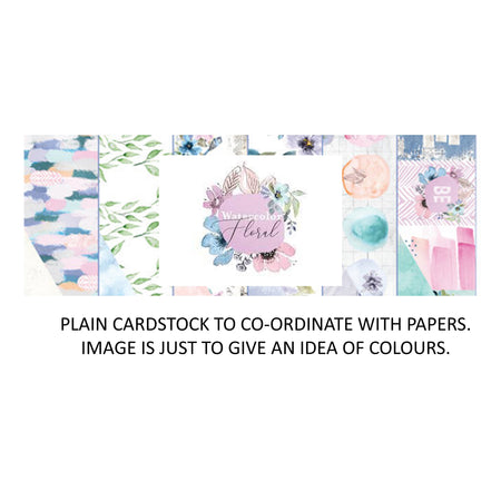 Prima Watercolor Floral - Bazzill Plain Matchmaker Pack