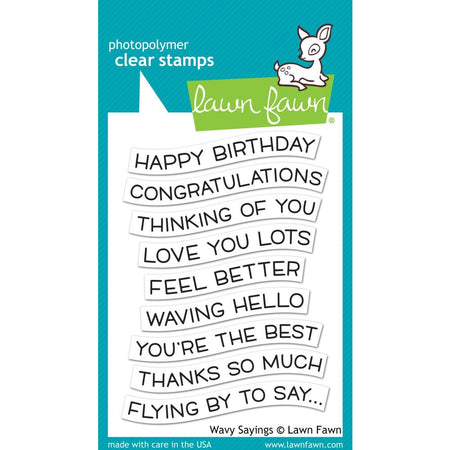 Lawn Fawn Clear Stamps - Wavy Sayings