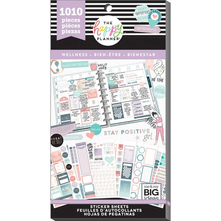 Me & My Big Ideas Happy Planner - Sticker Value Pack Wellness