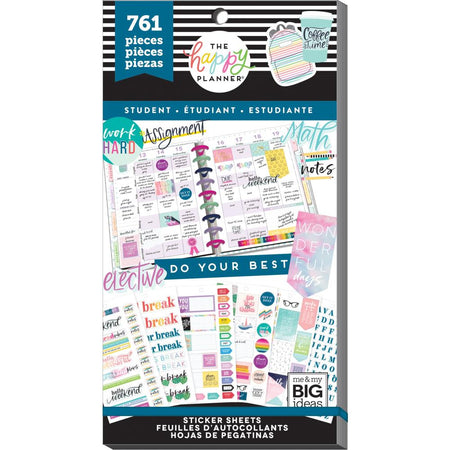 Me & My Big Ideas Happy Planner - Sticker Value Pack Student Whatever