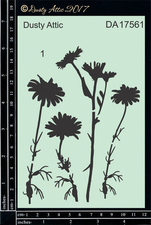 Dusty Attic Stencil - Wildflowers #1