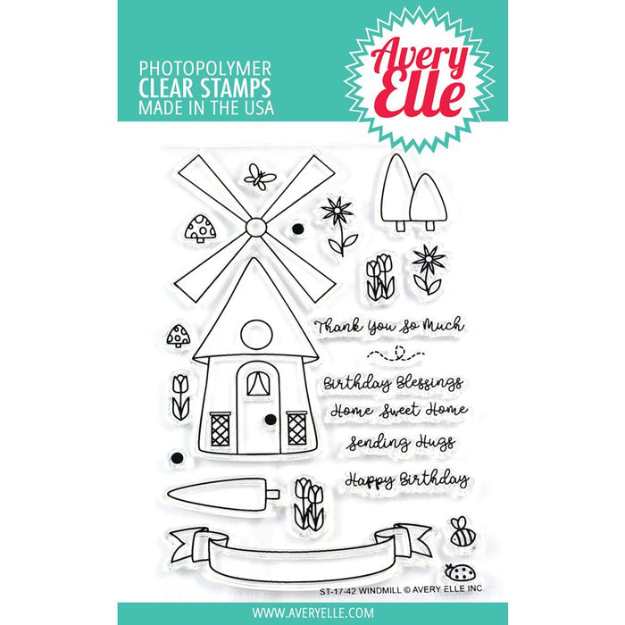 Avery Elle Clear Stamps - Windmill