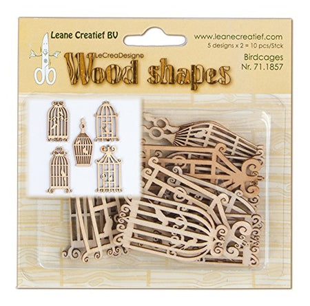 Leane Creatif Wood Shapes - Birdcages