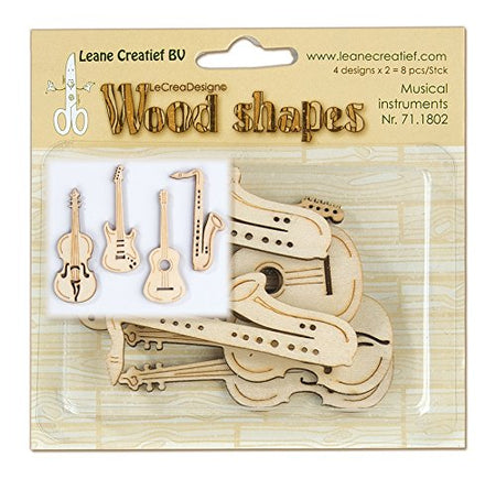 Leane Creatif Wood Shapes - Musical Instruments