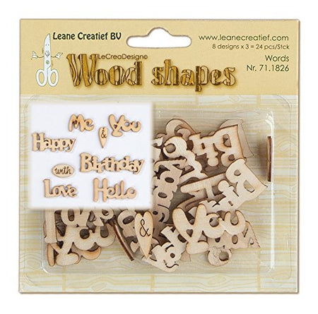 Leane Creatif Wood Shapes - Words