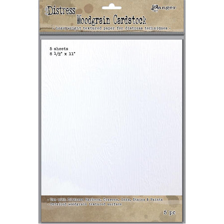 Tim Holtz Distress Woodgrain Cardstock 5 Pack