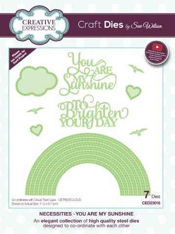 Creative Expressions Craft Die by Sue Wilson - You Are My Sunshine